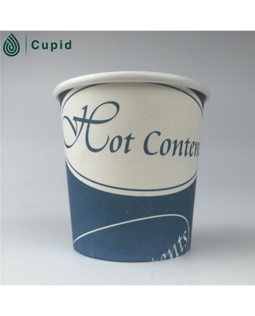 Custom logo printed single wall paper cup for coffee shop
